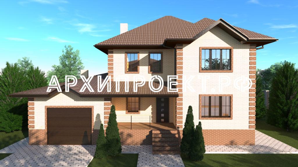 Проект двухэтажного дома с гаражом до 150