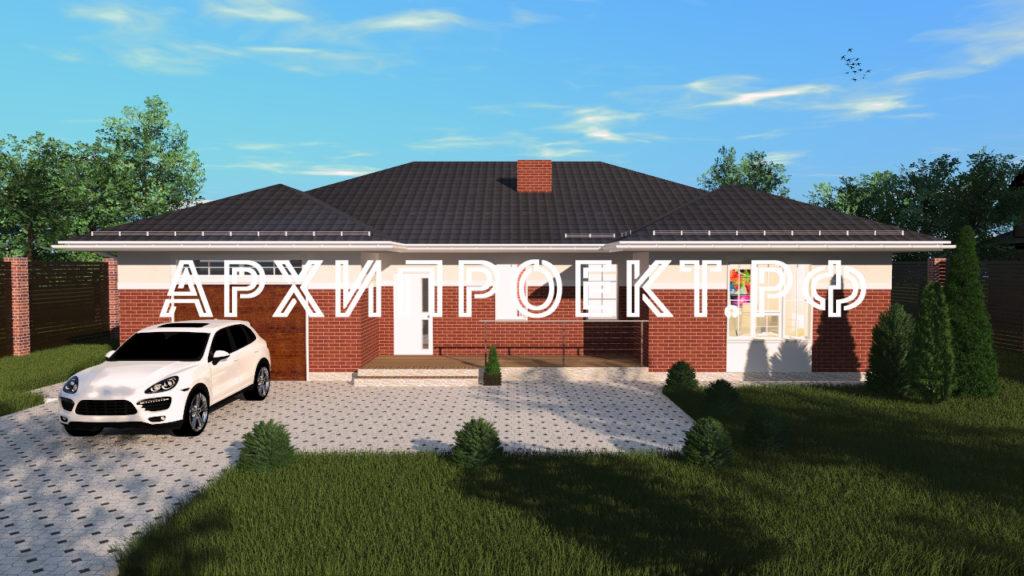Проект дома до 200 кв м с гаражом