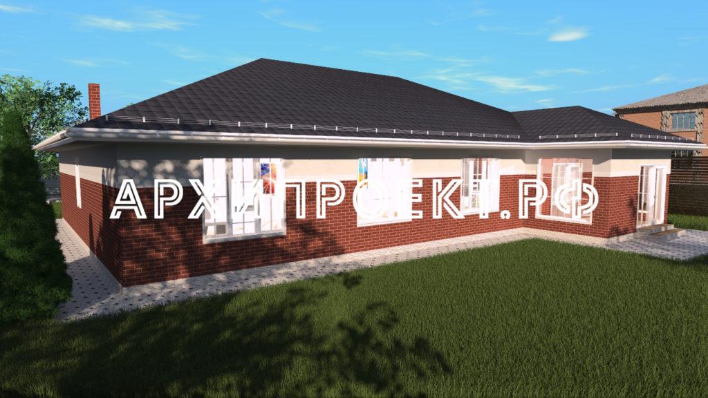 Проект дома до 200 кв м с гаражом и террасой