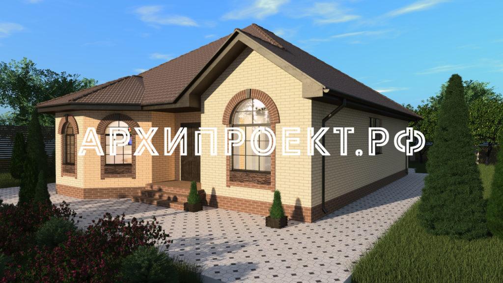 Купить недорогой проект одноэтажного кирпичного дома
