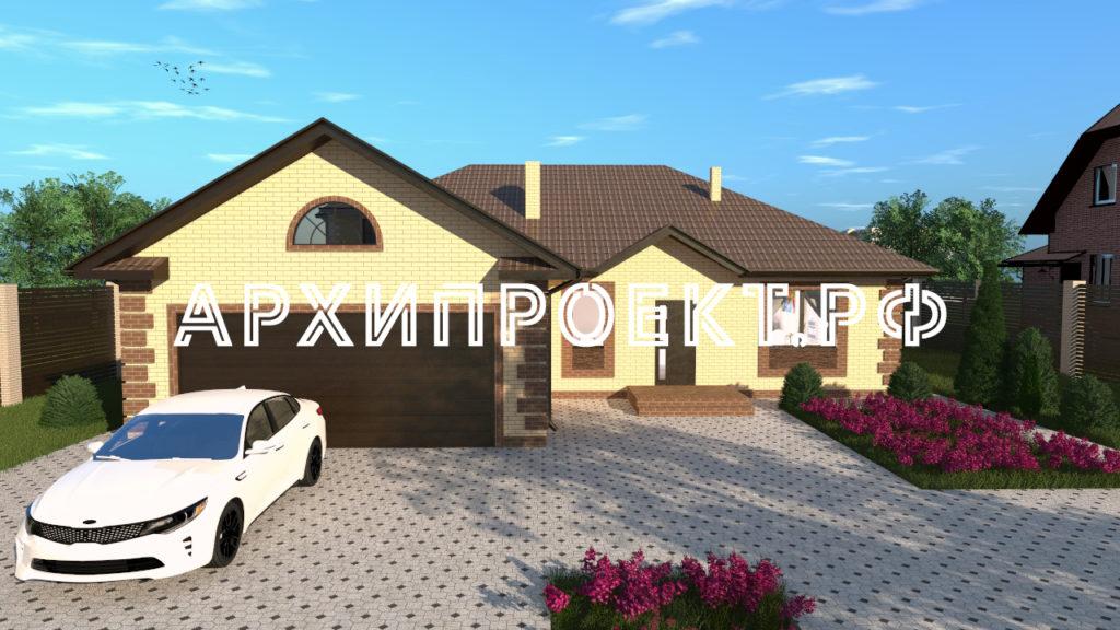 Проект дома с гаражом на 2 машины