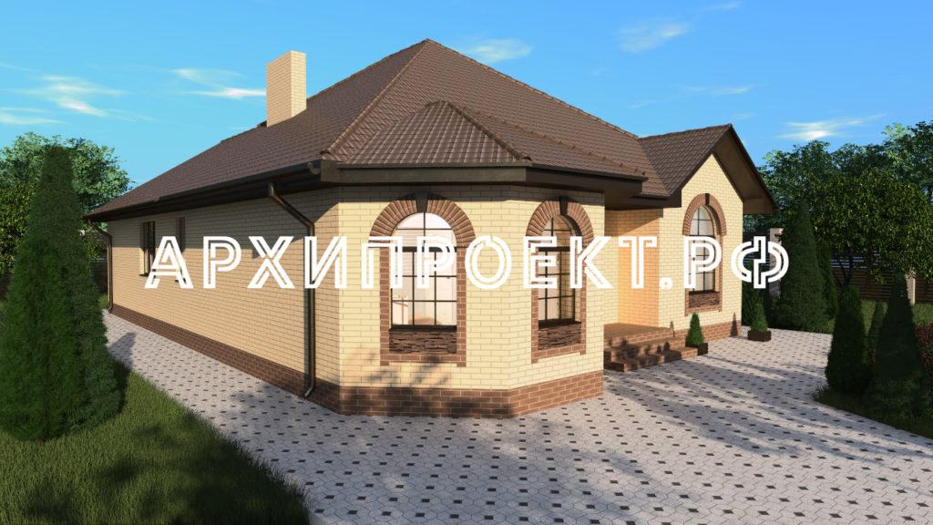 Проект кирпичного дома с эркером фото