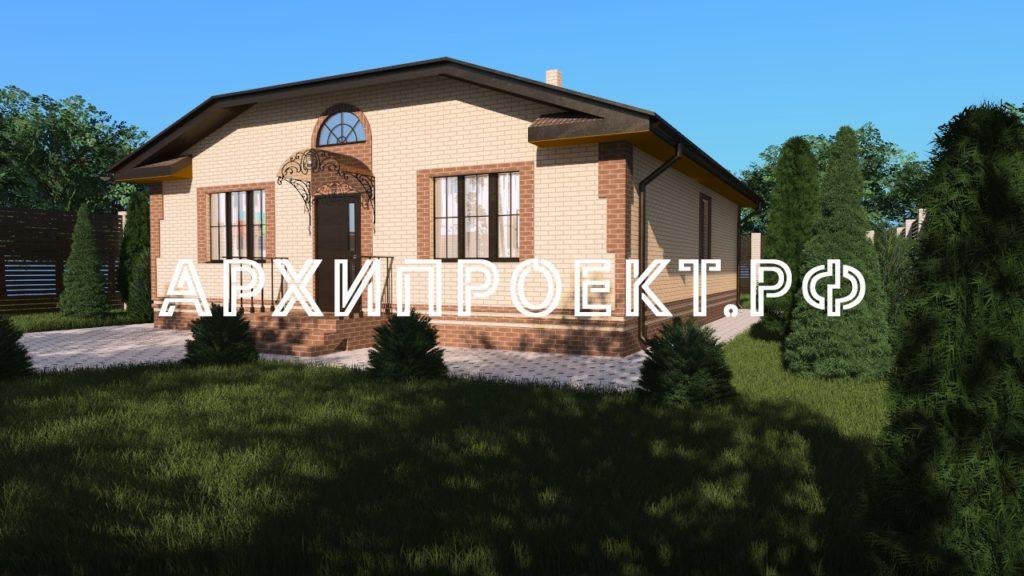 Проект недорого одноэтажного дома