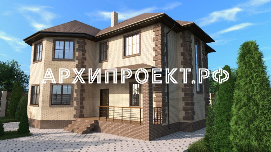 Дом двухэтажный с эркером