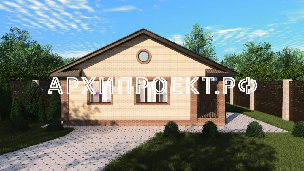 Проект одноэтажного дома до 100 кв м