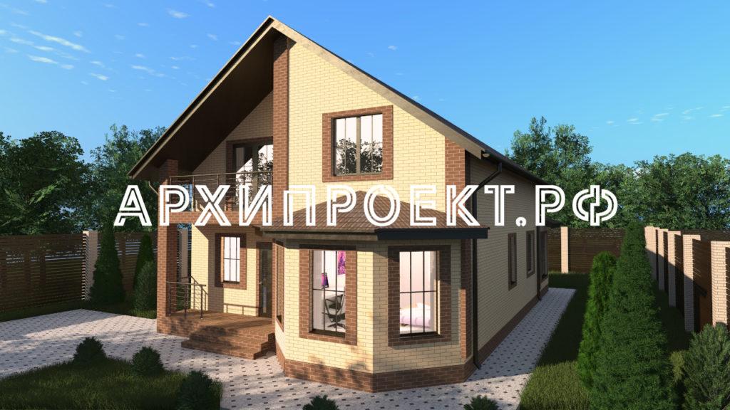 Проект дома с мансардой из кирпича