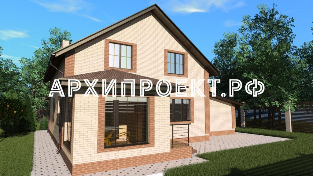 Проект дома с двускатной крышей фото