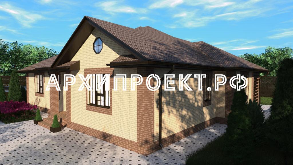 Одноэтажный дом из кирпича до 150 кв м