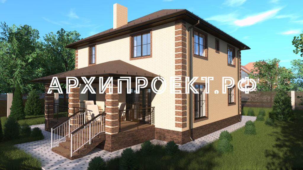 Двухэтажный дом с террасой АРХИПРОЕКТ.РФ