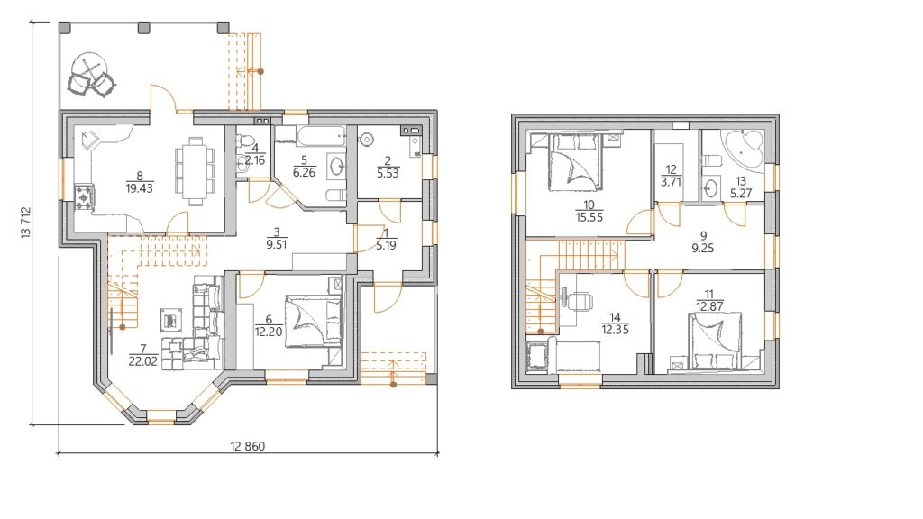 Планировка дома 150 кв с мансардой