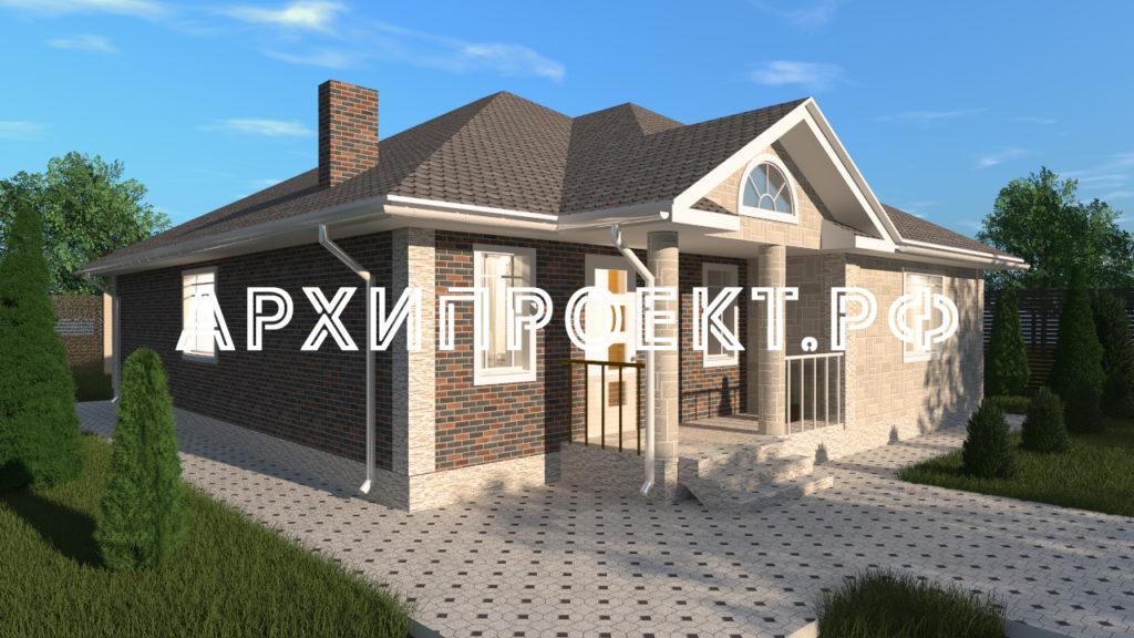 Проект одноэтажного дома до 150 кв м
