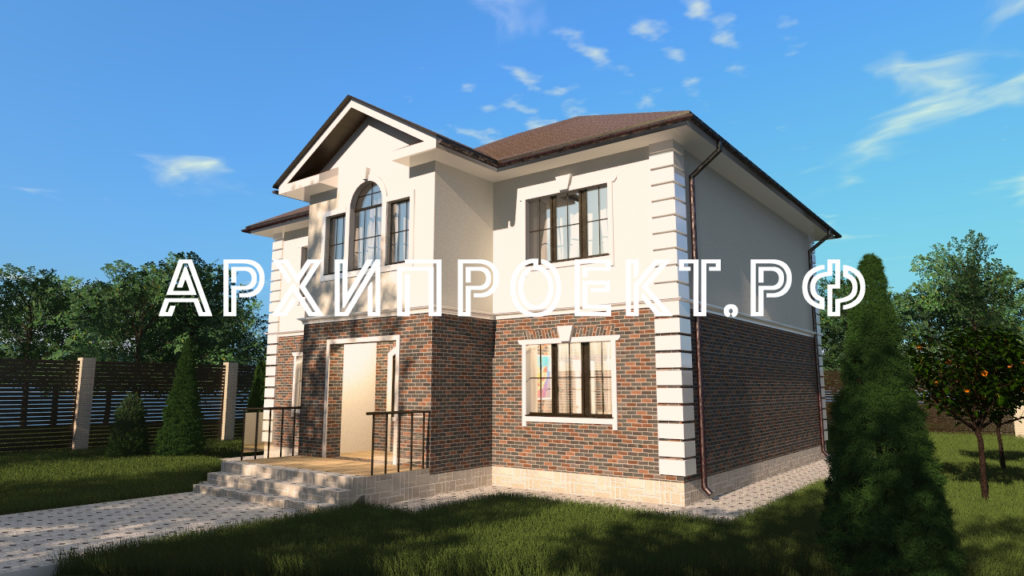 Проект красивого двухэтажного дома