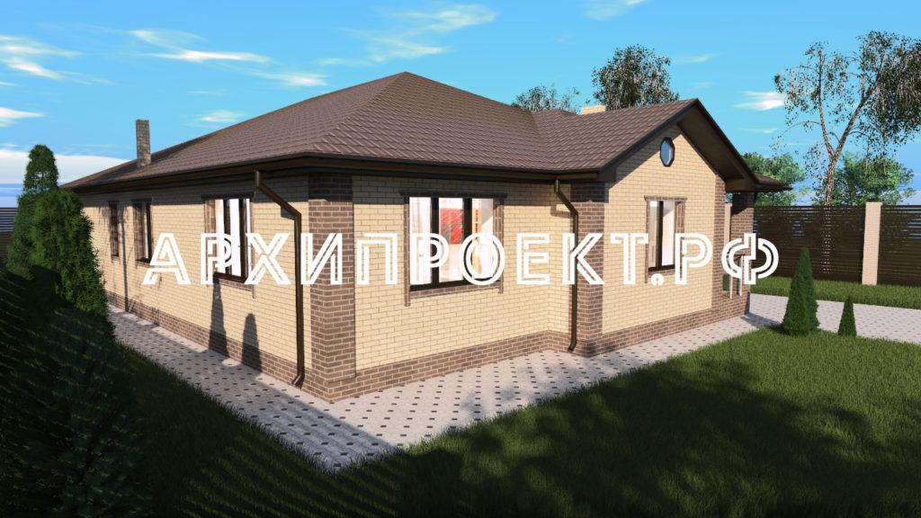 Красивый проект одноэтажного дома