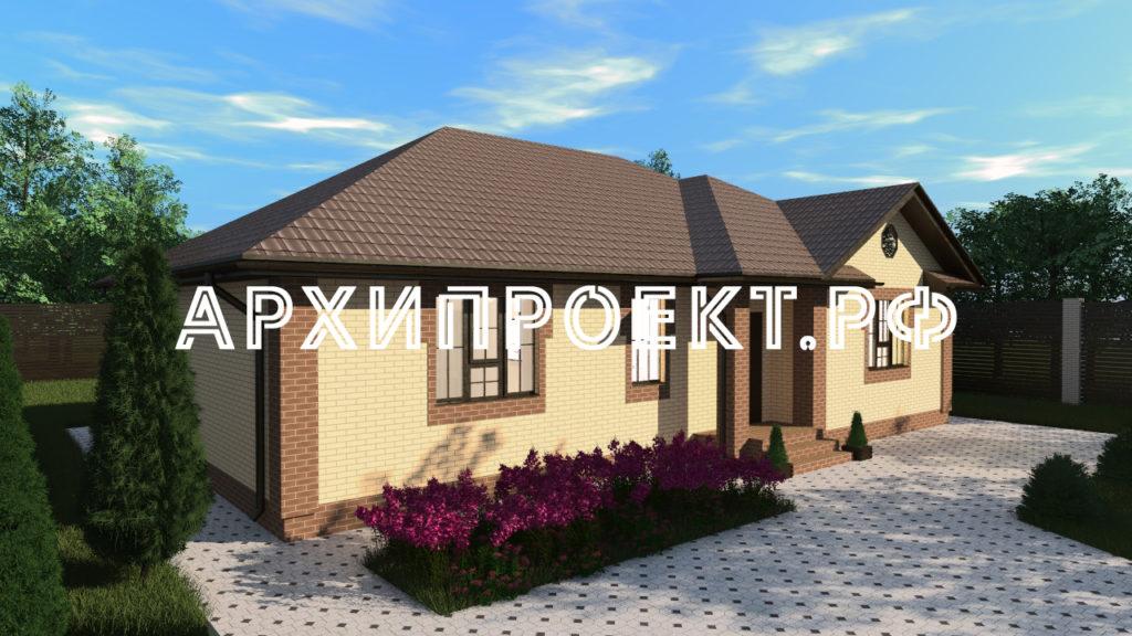 Проект одноэтажного дома из кирпича до 150 кв м
