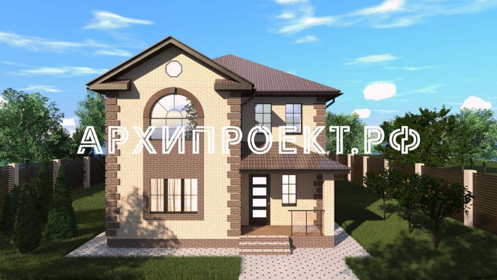 Проект двухэтажного дома из газобетона