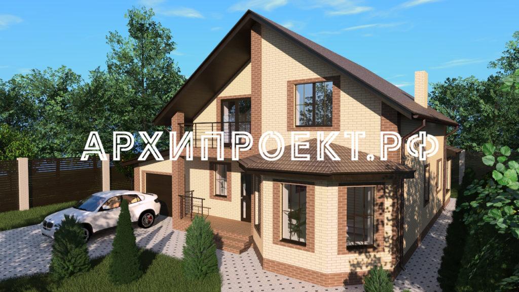 Двухэтажный дом с мансардой 150 кв фото