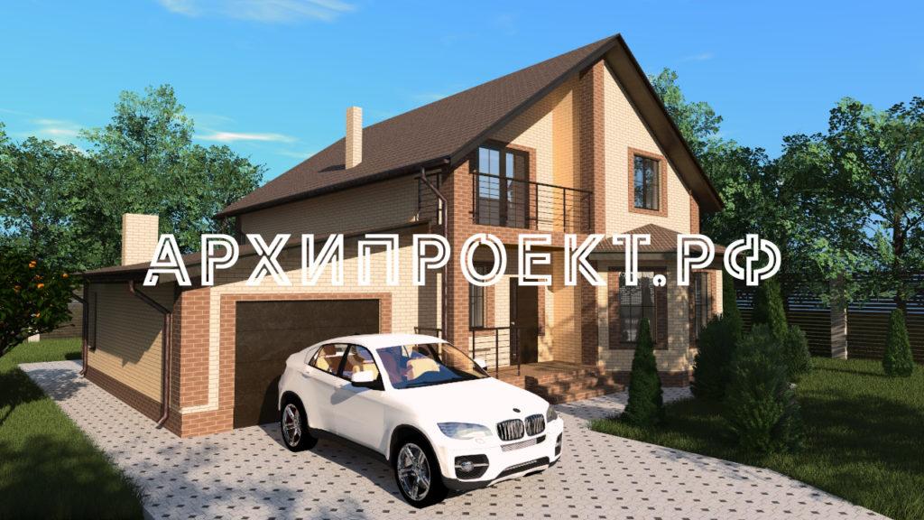 Купить проект дома с мансардой и гаражом