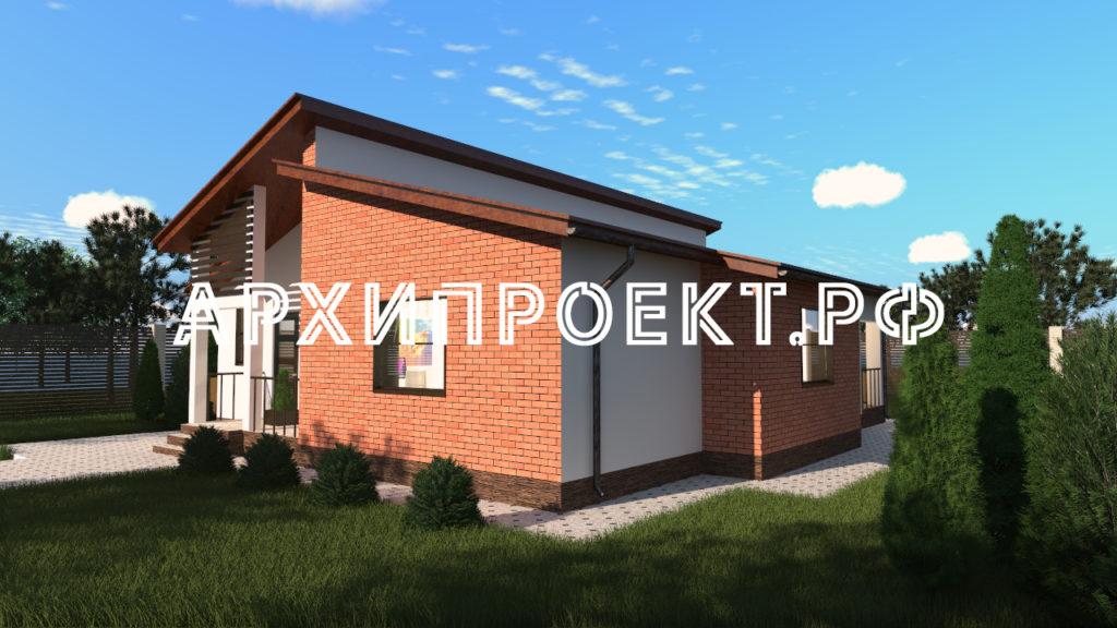 Проект современного одноэтажного дома