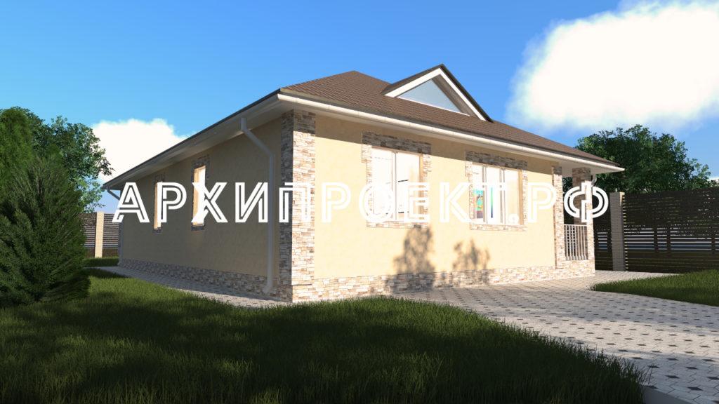 Одноэтажный дом небольшой проект
