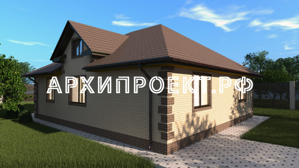Проект дома с мезонином