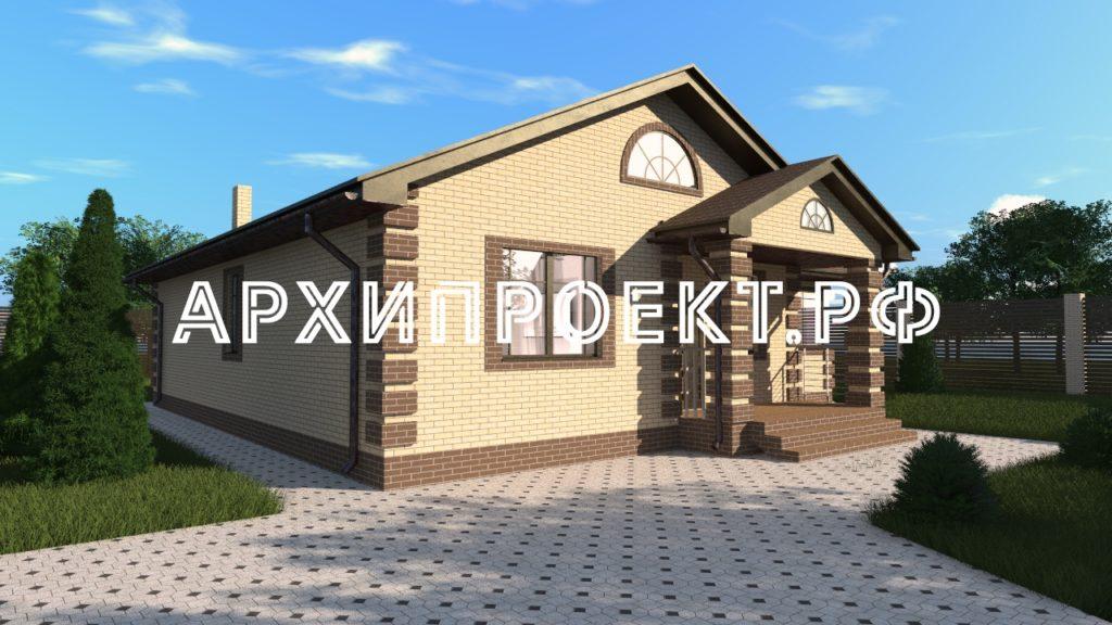Проект одноэтажного дома с планировкой