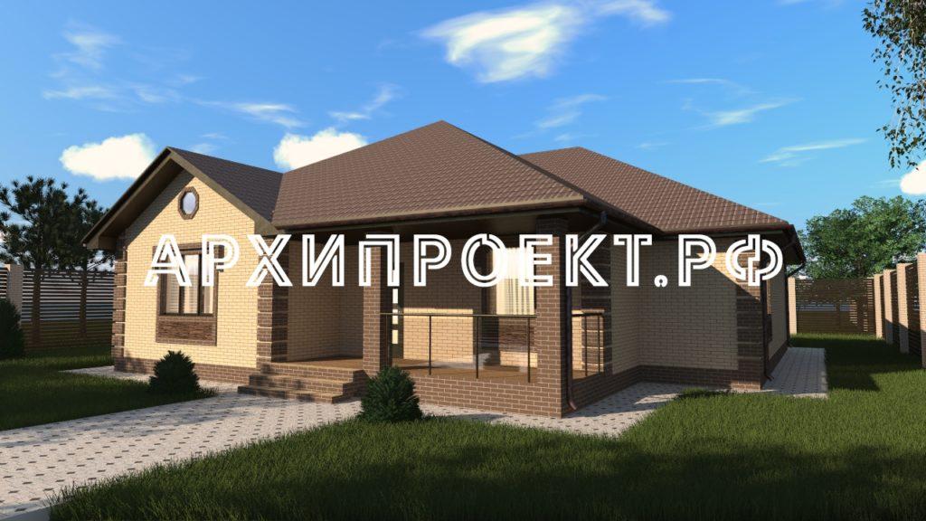 Проект одноэтажного дома из блоков