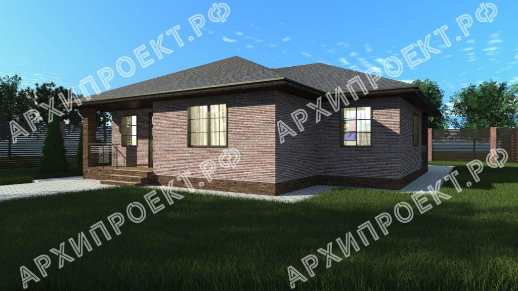 Проект одноэтажного дома 120 м