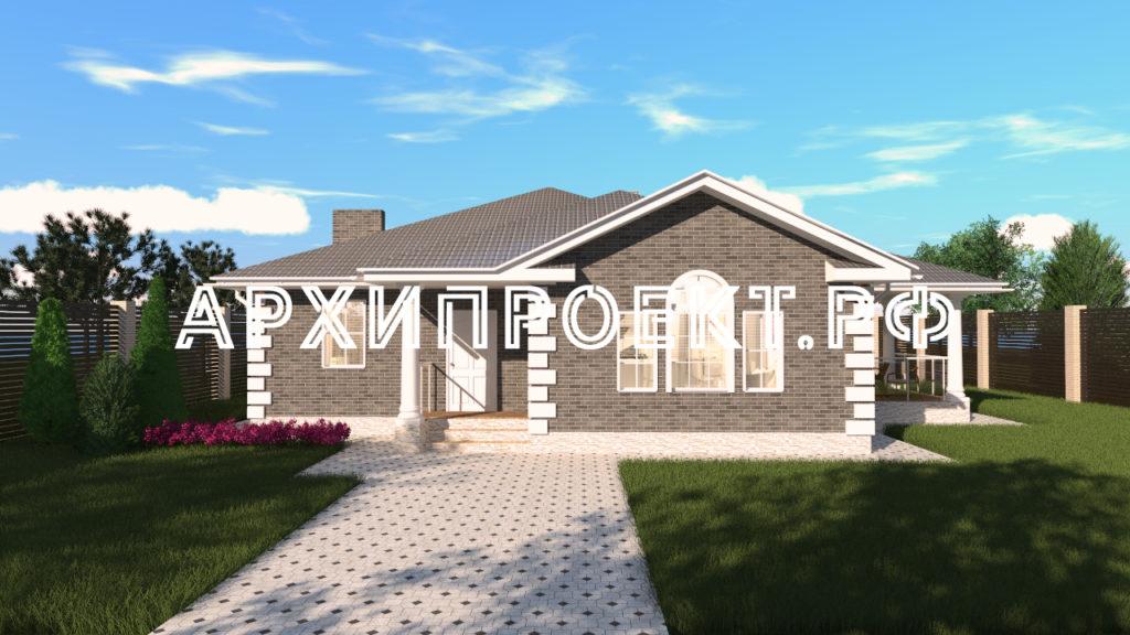 Проект одноэтажного дома 150 м