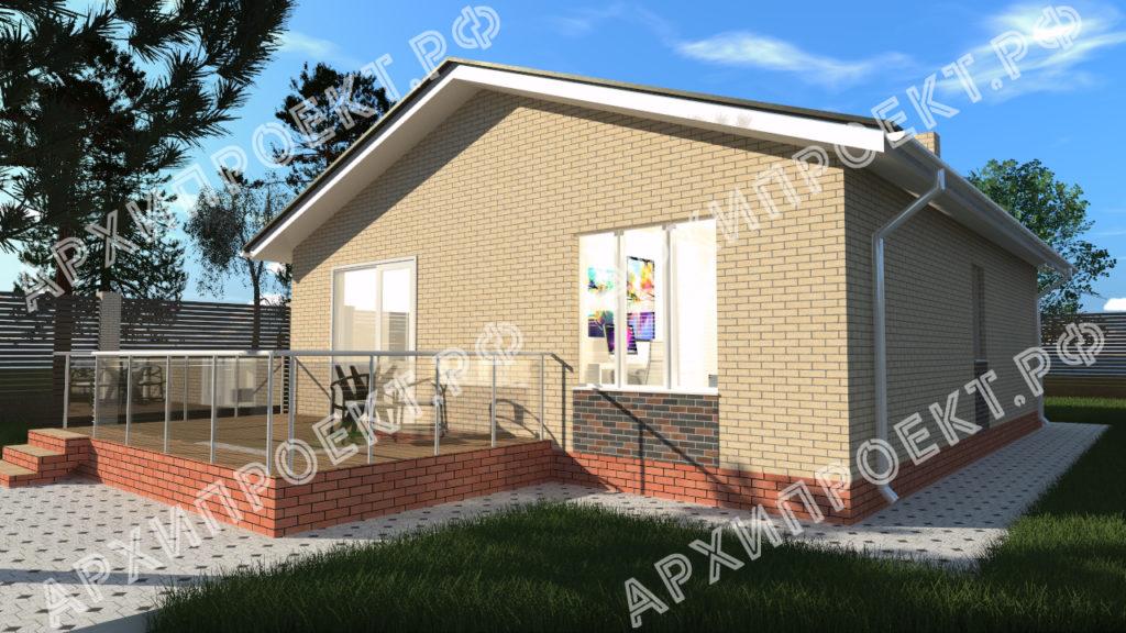 Экономичный проект одноэтажного дома