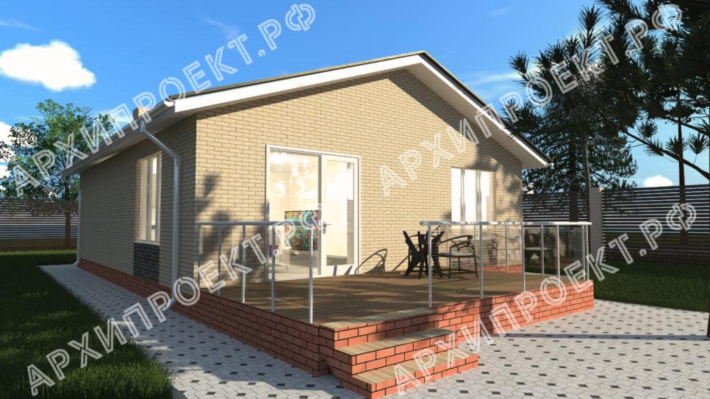 Одноэтажный дом фото
