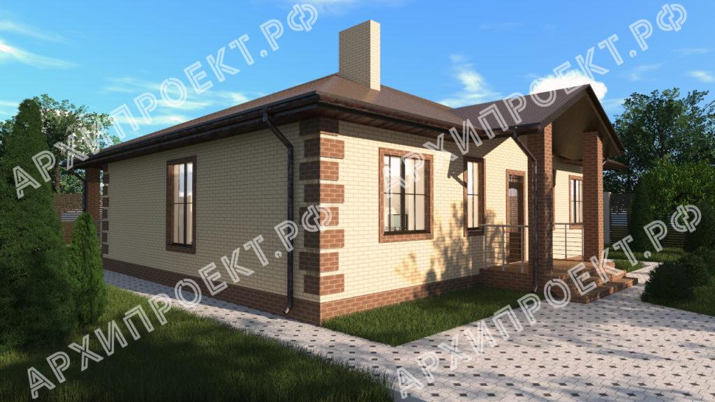 Проект одноэтажного дома около 130 кв м