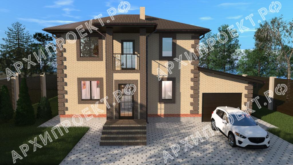 Проект небольшого двухэтажного дома