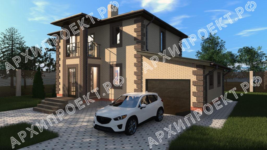 Проект небольшого двухэтажного дома АРХИПРОЕКТ.РФ