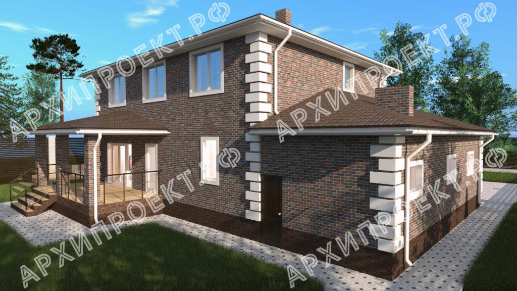 Двухэтажный дом с сауной и террасой