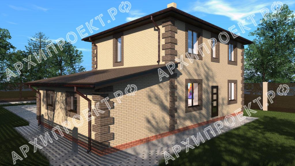 Проект небольшого двухэтажного дома эконом класса