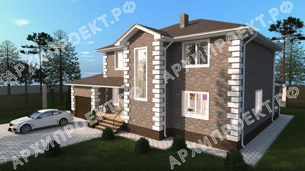 Двухэтажный дом с сауной и с гаражом