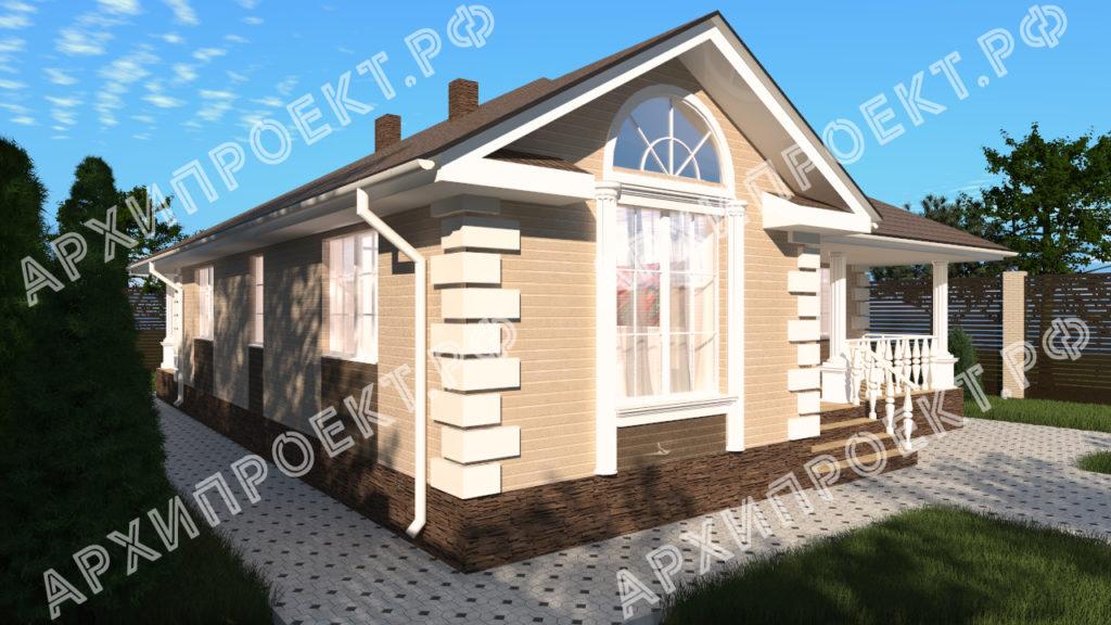 Проект одноэтажного дома с двумя спальнями фото