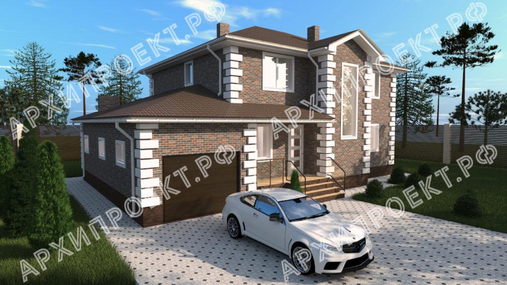 Двухэтажный дом с сауной фото