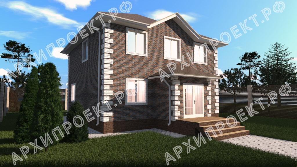 Практичный двухэтажный дом фото
