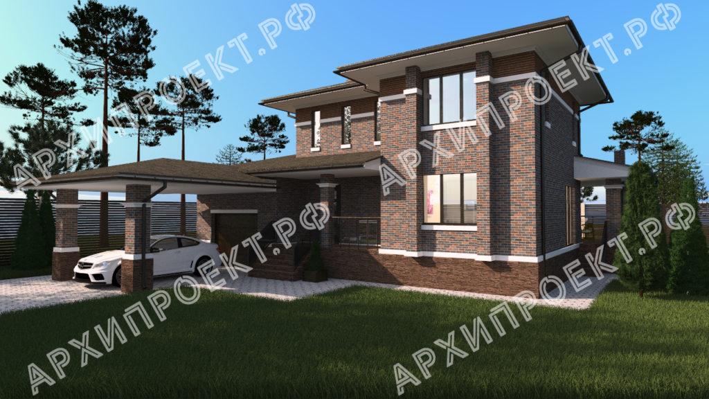 Проект дома в стиле Райта фото
