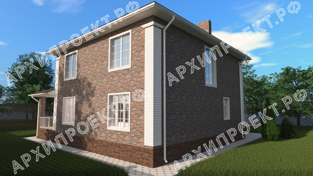 Красивый двухэтажный дом в классическом стиле