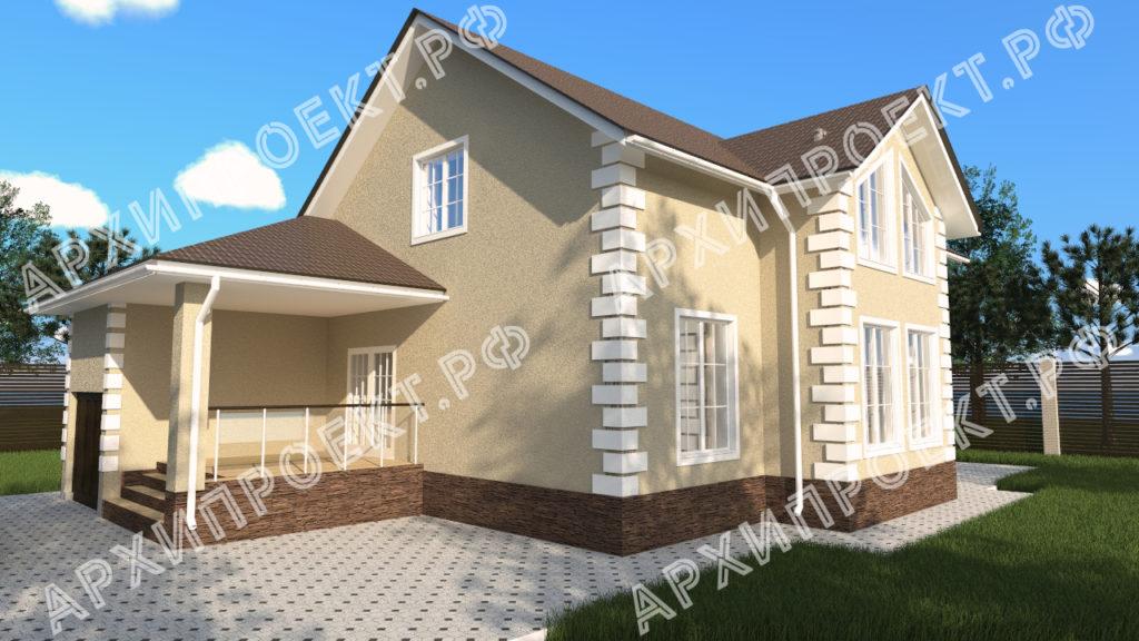 Двухэтажный дом со вторым светом купить проект