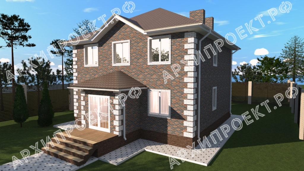 Практичный двухэтажный дом купить проект