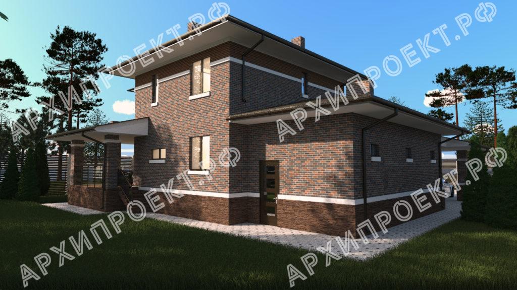 Проект дома в стиле Райта купить проект