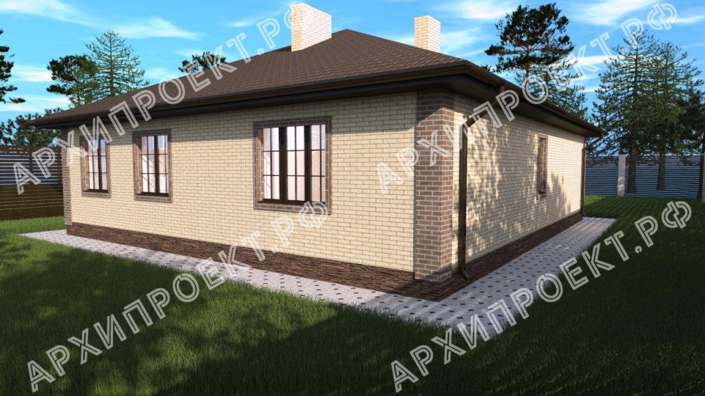 Проект дома 12 на 12 одноэтажный из кирпича