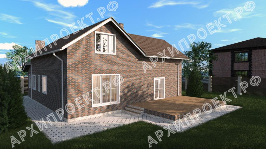 Угловой дом с мансардой фото