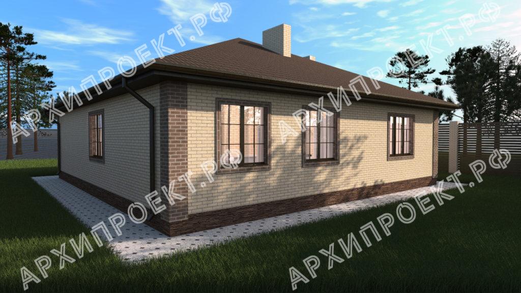 Проект дома 12 на 12 одноэтажный в Казани