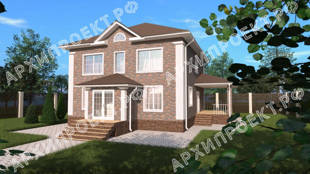 Красивый двухэтажный дом фото