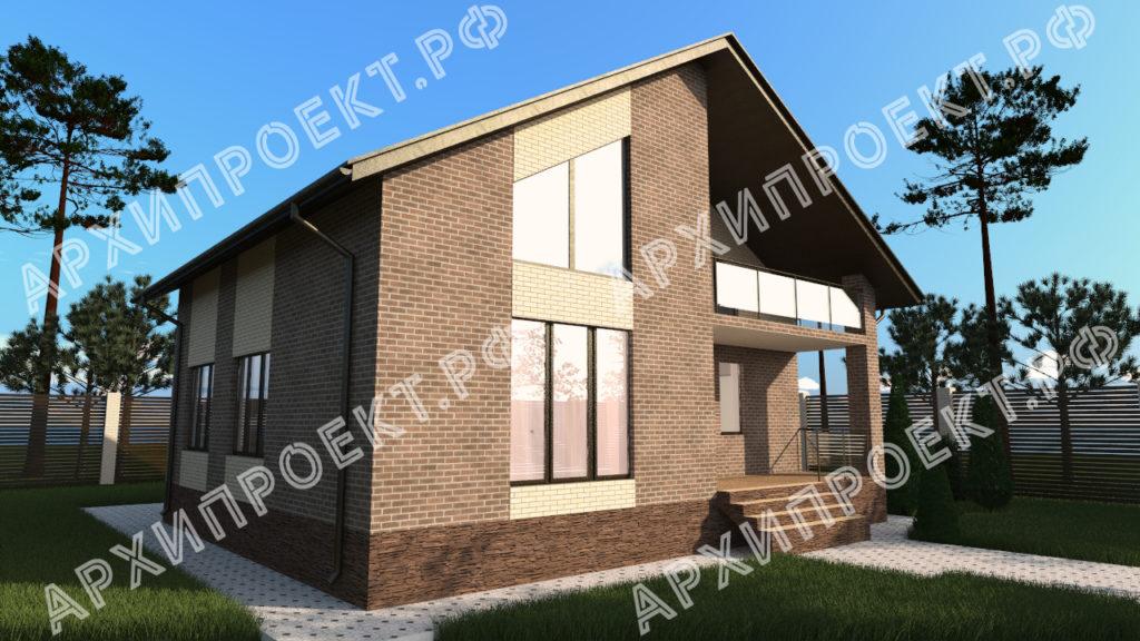 Дом с мансардой 10 на 12 проект