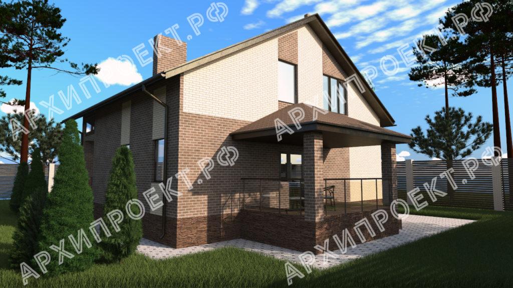 Дом с мансардой 10 на 12 с террасой